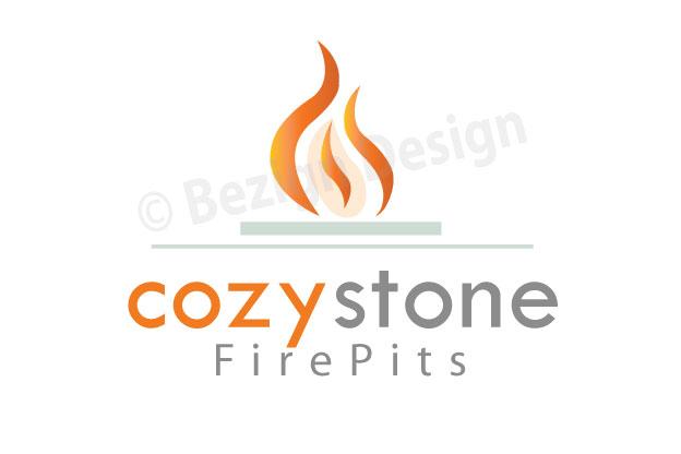 08- Cozy Stone Firepits - Logo Design