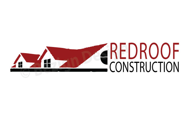 14- Red Roof Construction - Logo Design